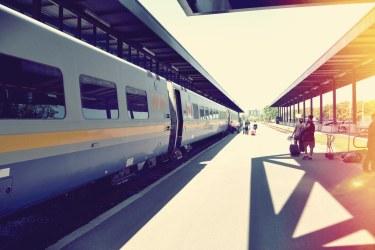 Boarding the train
