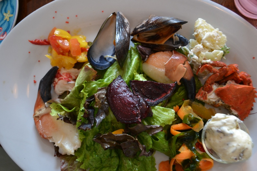 Seafood platter at Eithna's by the Sea