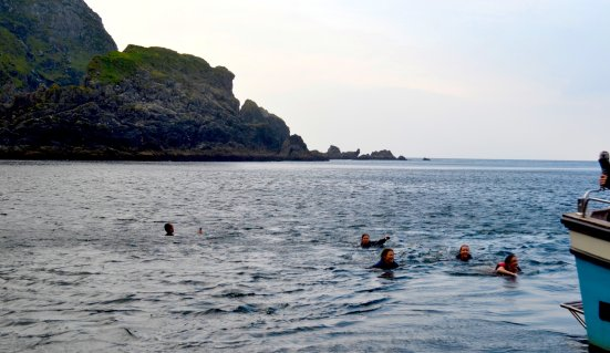 Swimming in Slieve League