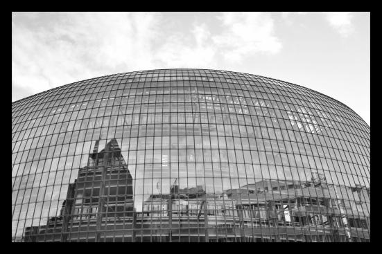 Glass atrium architecture